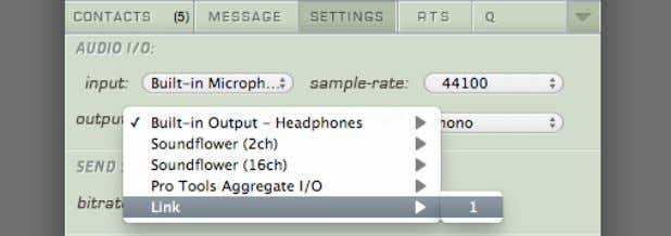 this ID in the Source-Connect Settings->Audio I/O menu To determine where in your Audio I/O you