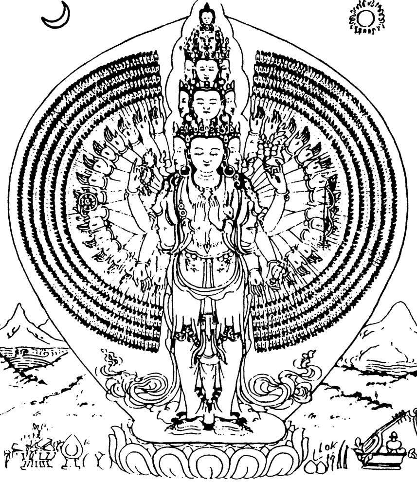 ahasrabhuja okeshvara (,-armed) Sometimes he is depicted with emblems with eight arms only carrying
