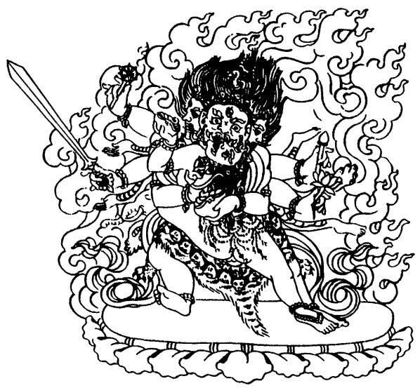 his prajna. He is wrathful in appear- ance. His images are also extremely rare in Nepal.