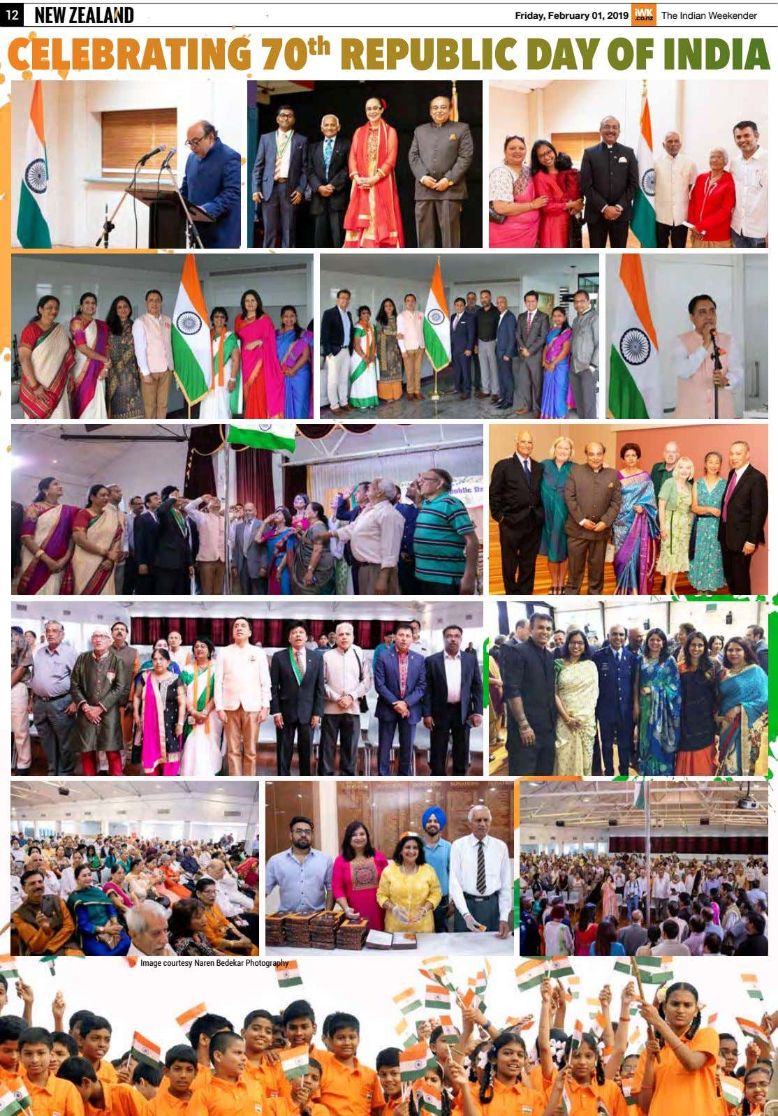 12 NEW ZEALAND Friday, February 01, 2019 The Indian Weekender CELEBRATING 70 th REPUBLIC DAY