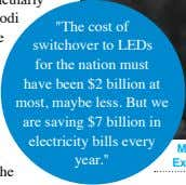 """The cost of switchover to LEDs for the nation must have been $2 billion at"