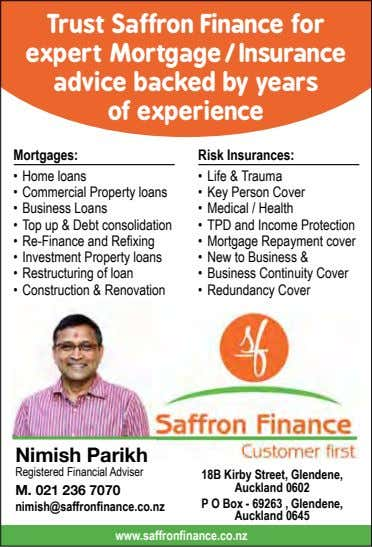 Trust Saffron Finance for expert Mortgage/ Insurance advice backed by years of experience Mortgages: Risk
