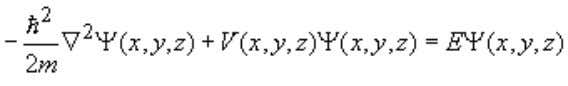 by solving Schrödinger's equation in three dimensions. (1.2.27) The potential V ( x , y ,