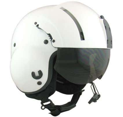 steel weight dropped from 10 ft. (2.48 m) resulting in less Figure 16- SPH-5 Flight Helmet.