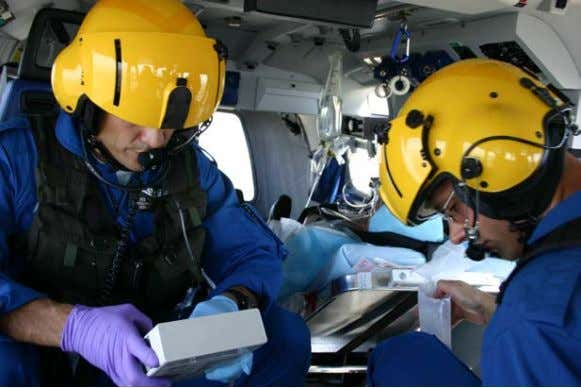 can inhibit the body's compensation mechanisms. 29 Figure 18- Helicopter EMS (HEMS). Aeromedical crewmembers