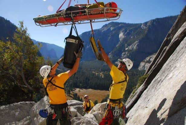 conduct a short-haul rescue from Royal Arches. NPS photo. Although some rescue organizations use a Stokes-style