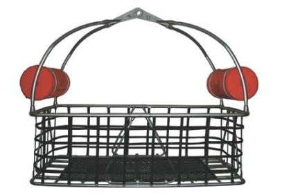 with their back against either end of the rescue basket. Figure 46- Collapsible Rescue Basket. Folded