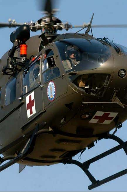 enroute care by medical personnel. The term MEDEVAC is Figure 2- Medevac Helicopter. A well-marked UH-72A