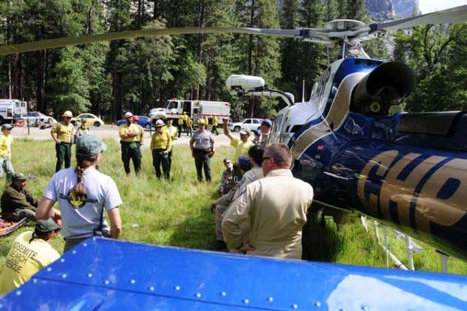 operations, personnel lose their composure and discipline. Figure 62- Helicopter Rescue Training. Yosemite National