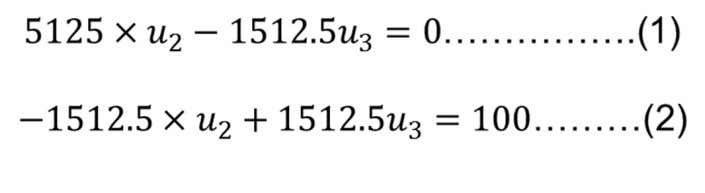 Option 2 solution : Use two equations solution = Two equations with two unknowns can be