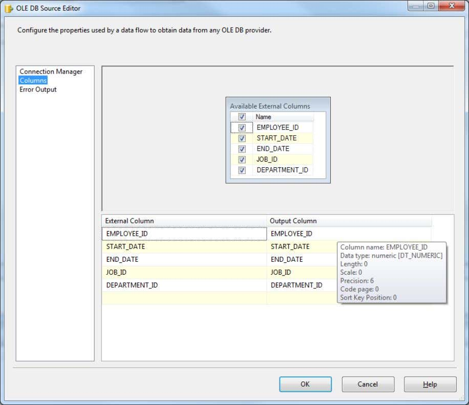 62 Figure 14: The Extraction Source Editor to Pull All Data from a Table. The final