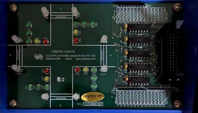 coming out of the PCI card to the traffic light interface 3. Switch on the PC