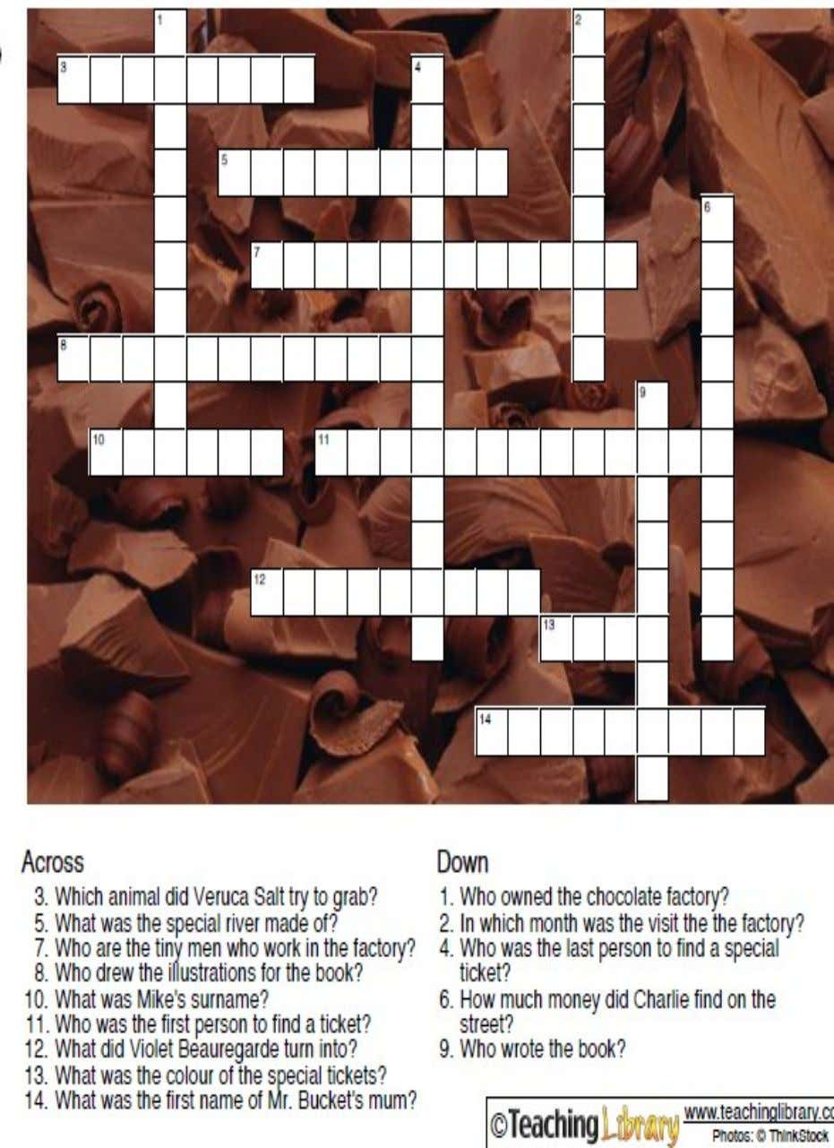 ACTIVIDAD 14  Put the correct word about the book into the crossword: