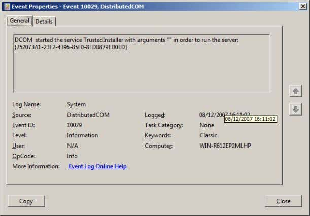 listing of events that can exist within Event Viewer. Windows 2008 Server Manger Copyright Aidan Finn