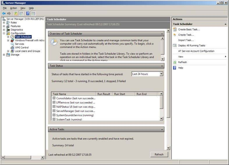 Configuration The Configuration section of Server Manager allows administrators to manage the configuration of servers