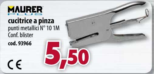 cucitrice a pinza punti metallici N° 10 1M Conf. blister cod. 93966 5,50