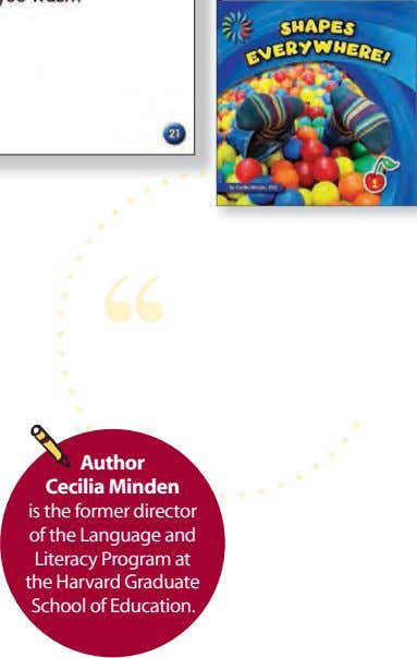 grubby little mitts Author Cecilia Minden is the former director of the Language and Literacy