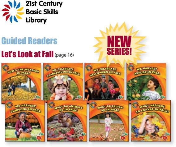 Guided Readers NEW SERIES! Let's Look at Fall (page 16)