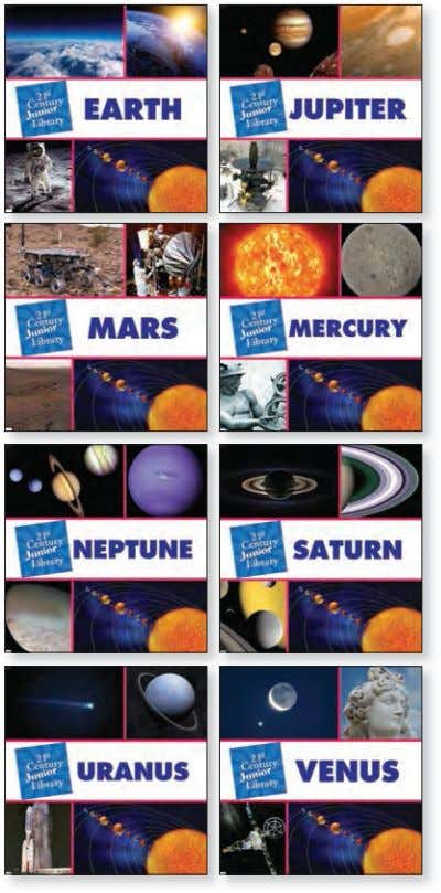 between particular sentences and paragraphs in a text. 21 s t Century Junior Library: Solar System