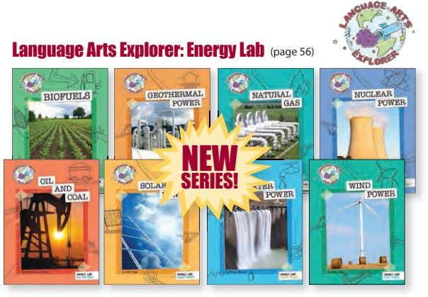 Language Arts Explorer: Energy Lab (page 56) NEW SERIES!