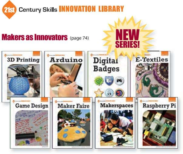 NEW Makers as Innovators (page 74) SERIES!