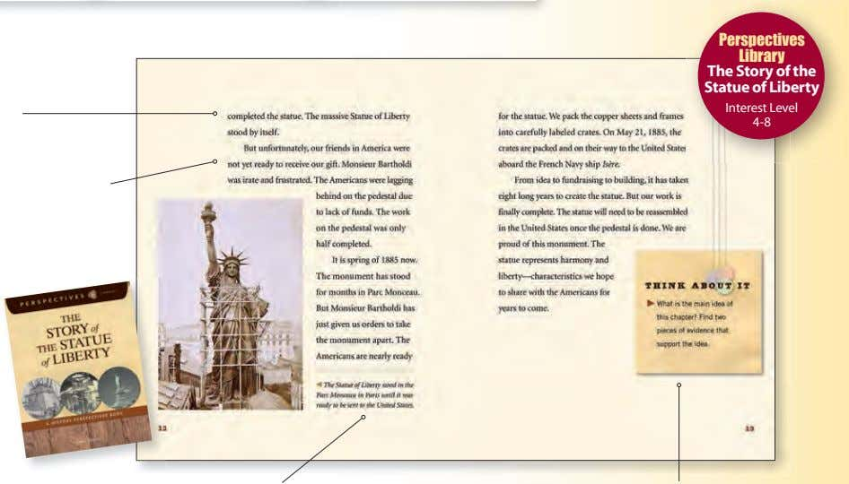 Perspectives Library The Story of the Statue of Liberty Interest Level 4-8
