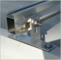 ST-AK 1/12 l=180 Trapezblechschiene AK metal roof mounting rail light AK HatiCon - Mounting systems for