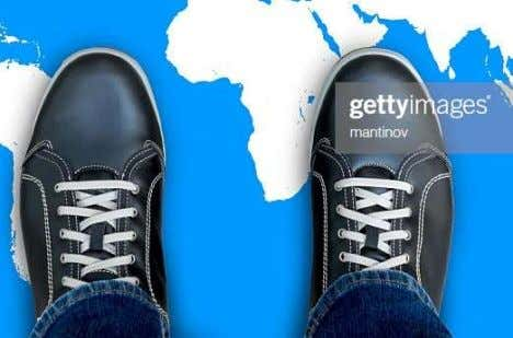 Sports shoes Casual shoes The 'map of Africa' image, above right, illustrates the partial overlap between