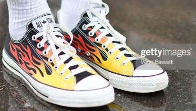 black casual shoes have a design that is somewhat sporty. Converse ™ is a famed example