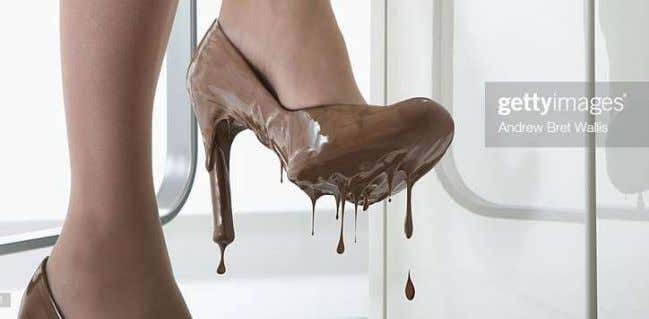 These melting chocolate shoes are an example. You lick? Design Other popular classifications of shoes overlap