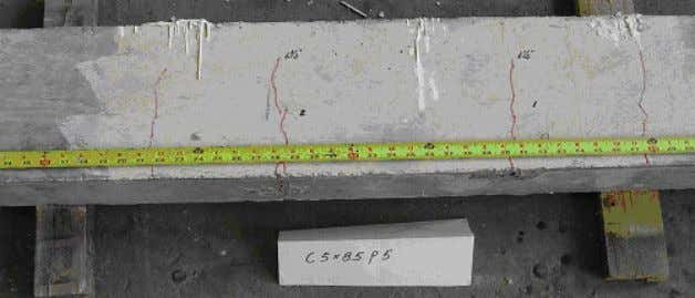 specimen C6x8.5H5, crack leng ths did continue developing during fatigue testing Figure 2.14 Specimen C5 x