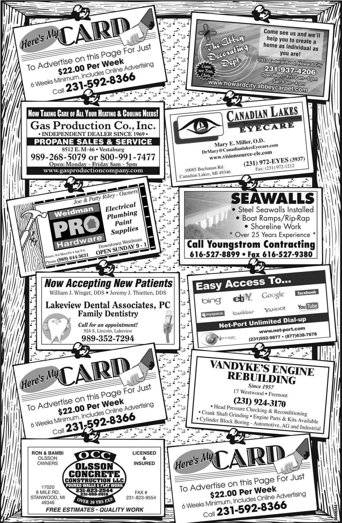 20 PIONEER EAST NEWS SHOPPER • MONDAY, APRIL 18, 2011