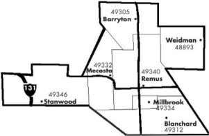 Stanwood, Weidman, Remus, Rodney, Mecosta, and Millbrook. For classified or display information call or fax: (231)