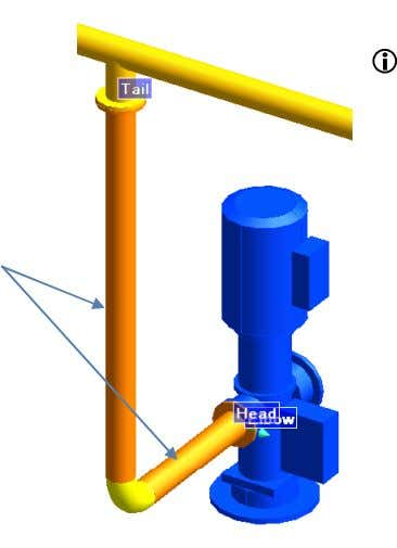 elbow and the flanges. Implied Tubing 2.12 Saving the Pipe The use of the Model Editor