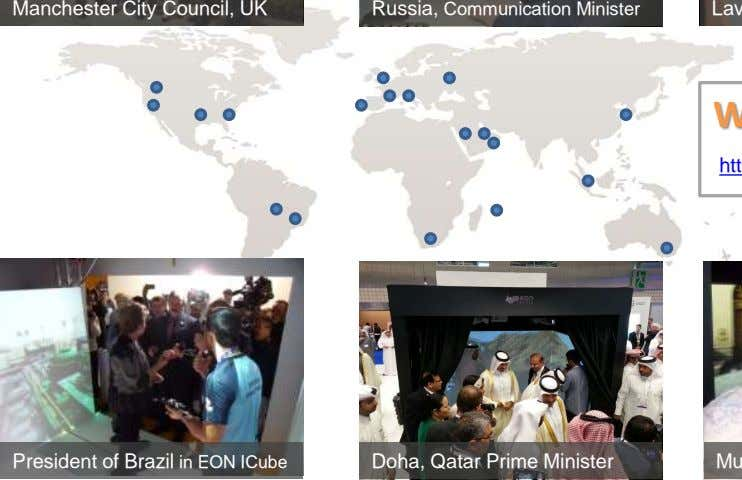 Manchester City Council, UK Russia, Communication Minister President of Brazil in EON ICube Doha, Qatar