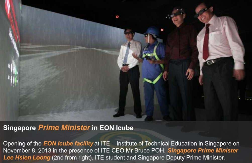 Singapore Prime Minister in EON Icube Opening of the EON Icube facility at ITE –