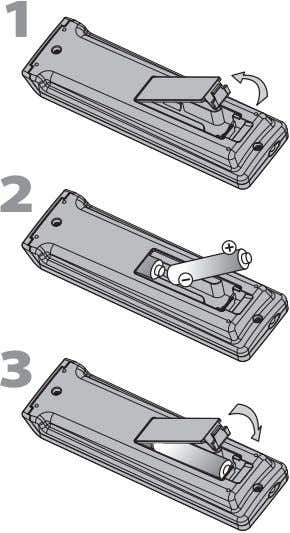 EN Install the batteries (AAA, 1.5V x 2) matching the polarity indicated inside battery compartment of