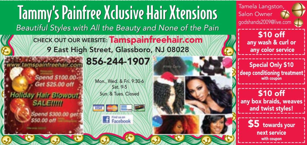 Tamela Langston, Tammy's Painfree Xclusive Hair Xtensions Tammy's Painfree Xclusive Hair Xtensions Salon Owner