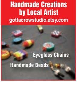 Handmade Creations by Local Artist gottacrowstudio.etsy.com Eyeglass Chains Handmade Beads