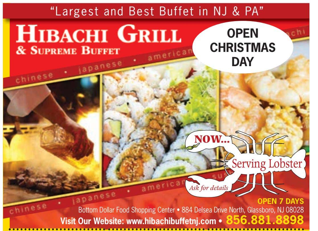"""Largest and Best Buffet in NJ & PA"" OPEN CHRISTMAS DAY OPEN 7 DAYS Bottom"