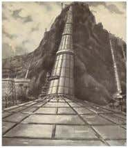 [9]. Fig.2. Principle of Professor Dubos's power plant. Fig.3. solar chimneys in the Moroccan desert envisioned