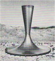 solar chimneys in the Moroccan desert envisioned by Dubos. Fig.4. the solar tower of the professor