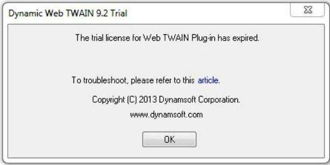 As stated in the error message, the trial license has expired thus the ProductKey has