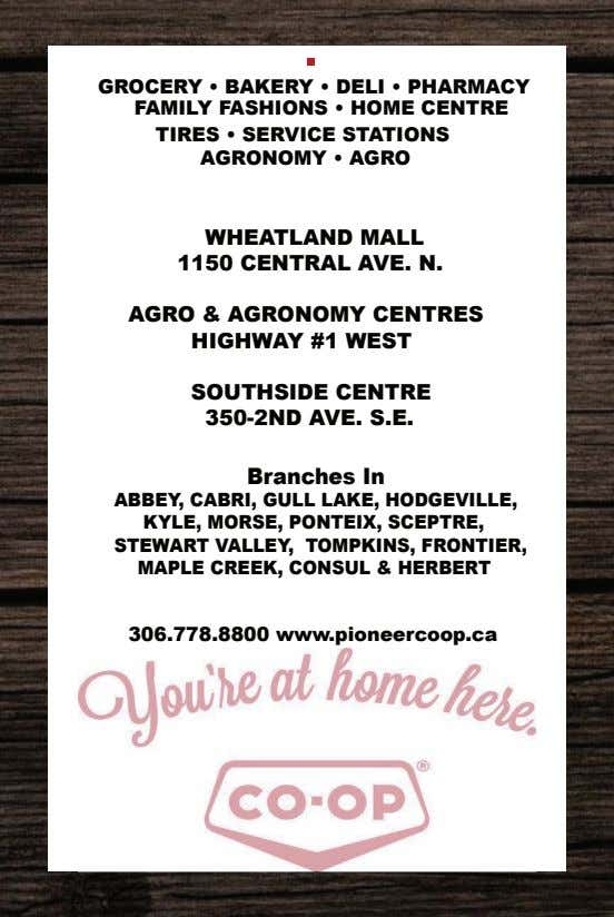 GROCERY • BAKERY • DELI • PHARMACY FAMILY FASHIONS • HOME CENTRE TIRES • SERVICE
