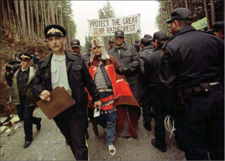 Qwatsinas was arrested at Ista in 1995, 1996 and 1997, during a direct action campaign to