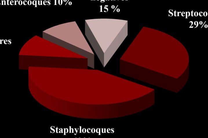 15 % 29% Staphylocoques