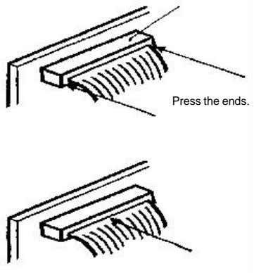 Press the ends.