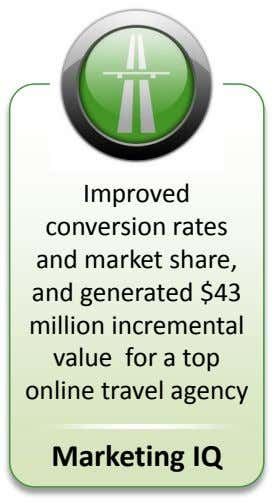 Improved conversion rates and market share, and generated $43 million incremental value for a top