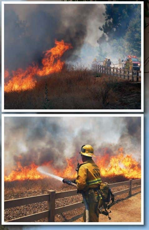 M ore thaN 100 firefighters respoNded by grouNd aNd air to battle a fast -