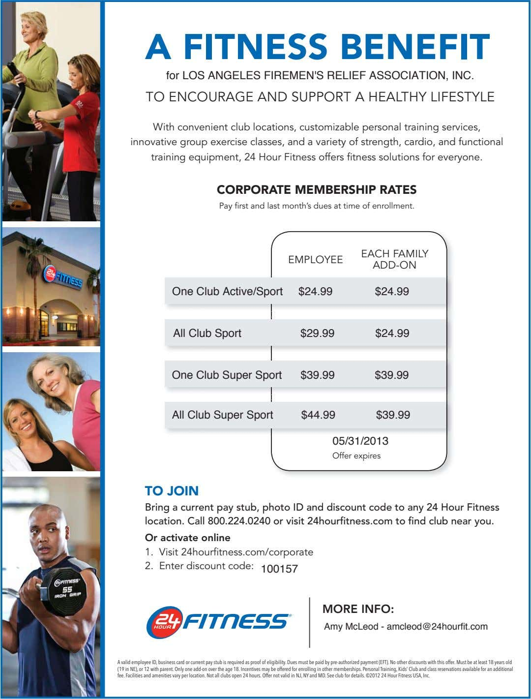 A FITNESS BENEFIT for LOS ANGELES FIREMEN'S RELIEF ASSOCIATION, INC. TO ENCOURAGE AND SUPPORT A